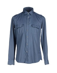 Siviglia Shirts Shirts Men Slate Blue