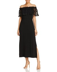 Design History Off The Shoulder Lace Maxi Dress Black