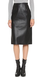 J.O.A. Faux Leather Pencil Skirt Black