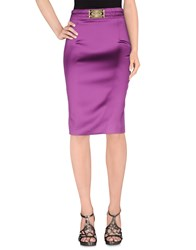 Frankie Morello Skirts Knee Length Skirts Women Purple