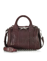 Alexander Wang Rockie Beet Pebbled Leather Satchel Burgundy