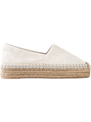Brunello Cucinelli Leather Espadrilles Nude And Neutrals