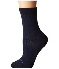 Feetures Texture Ultra Light Crew Sock Navy Crew Cut Socks Shoes