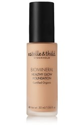 Estelle And Thild Biomineral Healthy Glow Foundation Medium Yellow 123 Colorless