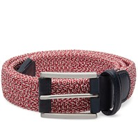 Andersons Anderson's Woven Marl Textile Belt Red