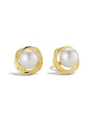 David Yurman Infinity Earrings With Pearls In Gold No Color