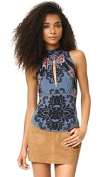 Free People Cherry On Top Blue Combo