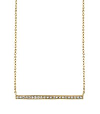 Sydney Evan Yellow Gold And Diamond Long Bar Necklace Female