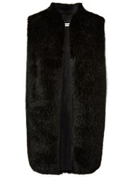 Whistles Faux Fur Gilet Black