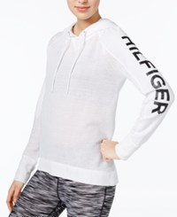 Tommy Hilfiger Mesh Hoodie Only At Macy's White