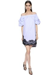Ermanno Scervino Off The Shoulder Cotton Poplin Dress