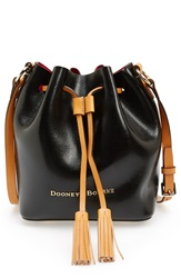 Dooney Bourke 'Serena' Embossed Leather Crossbody Bag Black Hot Pink