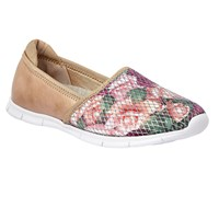 Lotus Valli Floral Print Loafers Rose
