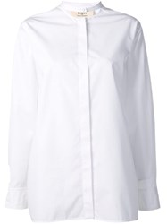 Ports 1961 Band Collar Blouse White
