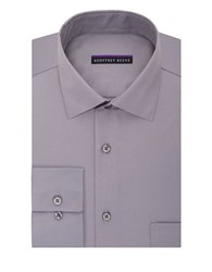 Geoffrey Beene Sateen Regular Fit Dress Shirt Gun Metal