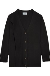 Prada Draped Wool And Cashmere Blend Cardigan Black