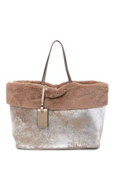 Steve Madden Carin Faux Fur Tim Tote Bag Brown