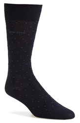 Men's Boss 'Frank' Dot Socks Blue Navy