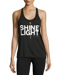 Spiritual Gangster Shine Light Arrow Racerback Tank Top Black