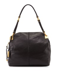 Martina Leather Tote Bag Black Badgley Mischka