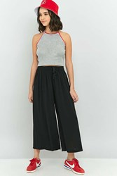 Staring At Stars Tie Front Crinkle Culotte Pant Black