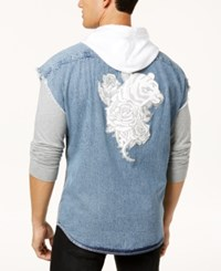 Inc International Concepts Men's Tiger Hoodie Vest Created For Macy's Light Wash