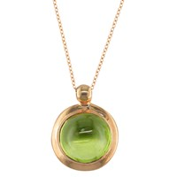 London Road 9Ct Rose Gold Pimlico Bubble Pendant Necklace Peridot