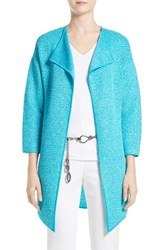 St. John Women's Collection Hidden Lattice Cardigan