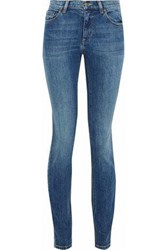 Red Valentino Faded Mid Rise Skinny Jeans Mid Denim