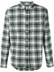 Edwin Checked Shirt Green