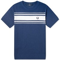 Fred Perry Reissues Knitted Tee Blue