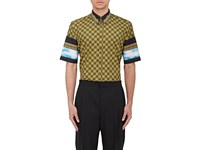 Givenchy Men's Checked Twill Shirt Dark Green