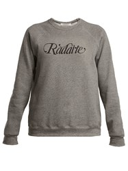 Rodarte Logo Print Cotton Blend Sweatshirt Grey