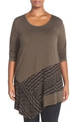 Chalet 'Berlyn' Ruched Panel Tunic Plus Size Kona