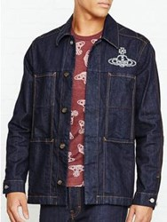 Vivienne Westwood Anglomania Workwear Jacket With Orb Blue
