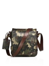 Polo Ralph Lauren Compact Leather Messenger Bag Camo