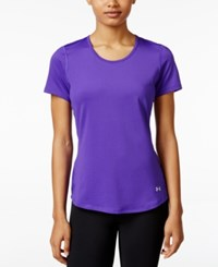 Under Armour Heatgear Coolswitch T Shirt Deep Orchid