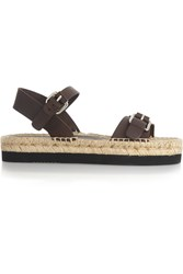 Paloma Barcelo Leather Sandals Brown