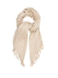 Isabel Marant Zila Cashmere And Wool Blend Scarf Beige