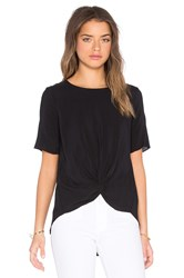 Bcbgeneration Front Knot Top Black