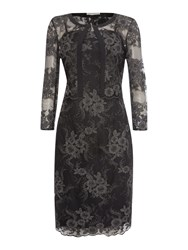 Shubette Two Piece Lace Dress And Matching Jacket Black