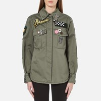 Marc Jacobs Women's Padded Military Shirt Military Green