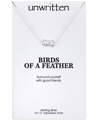 Unwritten Mini Bird Pendant Necklace Sterling Silver