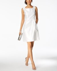 Ellen Tracy Petite Square Neck Sheath Dress Ivory