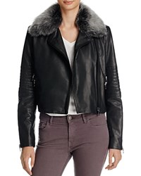 J Brand Aiah Leather Jacket Black