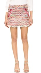 Twelfth St. By Cynthia Vincent Fringe Zigzag Skirt Multicolor