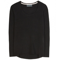 Velvet Cashmere Sweater Black