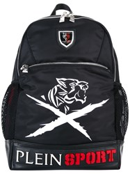 Plein Sport Logo Plaque Backpack Black