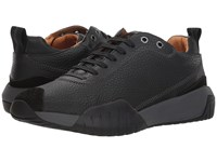 Hugo Boss Storm Running Grainy Leather By Green Black Shoes