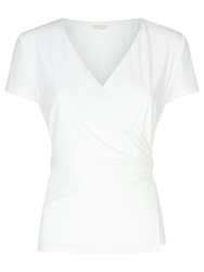 Planet Ivory Jersey Buckle Top Ivory